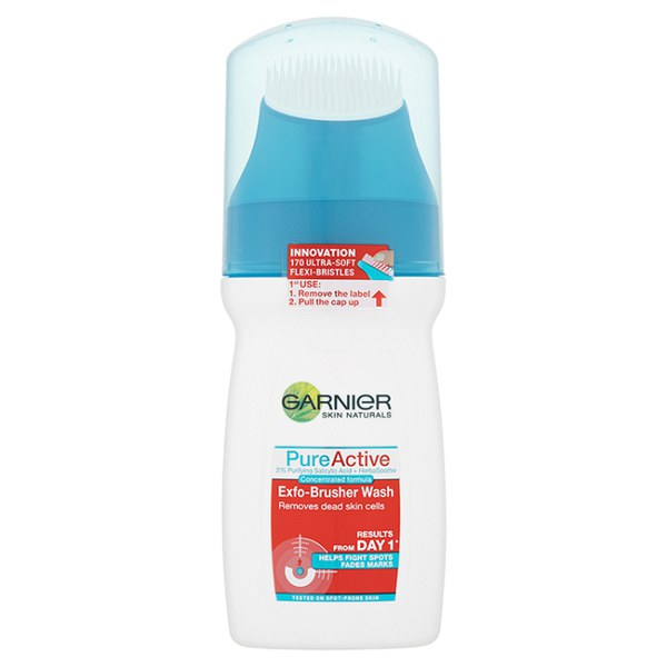 Garnier Pure Active Exfo-Brusher Nettoyant Facial (150ml)