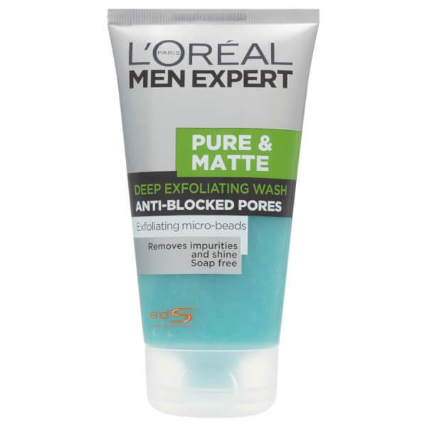 L'Oreal Paris Men Expert Pure & Matte Deep Exfoliating Wash (5oz)