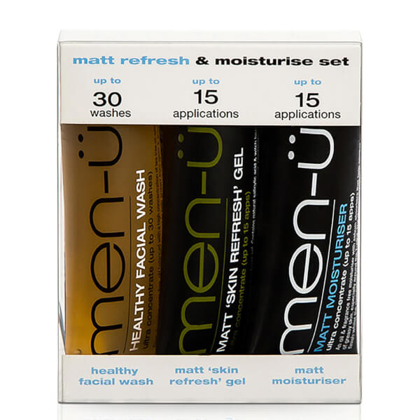 men-u Set 3 x 15ml - Matt Refresh & Moisturize Set