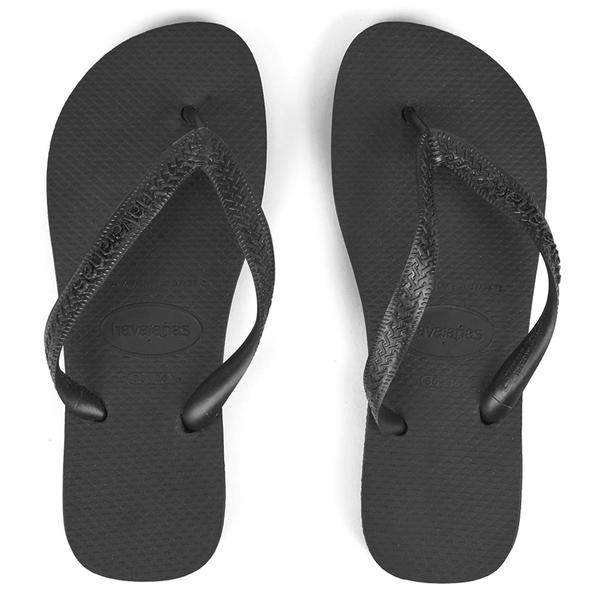 Havaianas Unisex Top Flip Flops - Black
