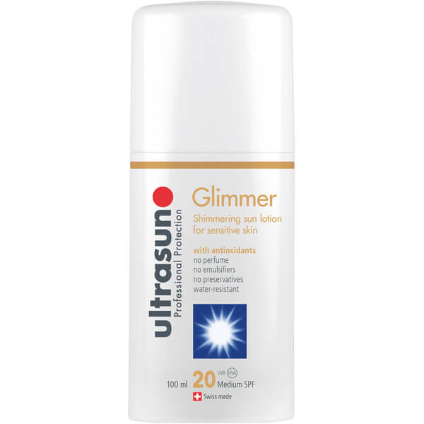 Ultrasun Glimmer SPF20 - Formule sensible(100ml)