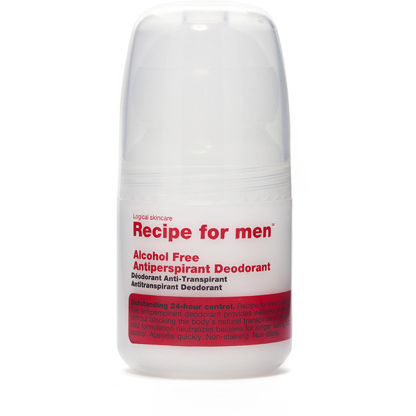 Desodorante roll-on antitranspirante sin alcohol, de Recipe For Men 60 ml