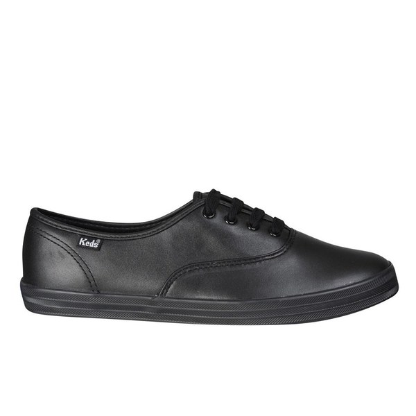 Keds Women's Champion CVO Leather Trainers - Black