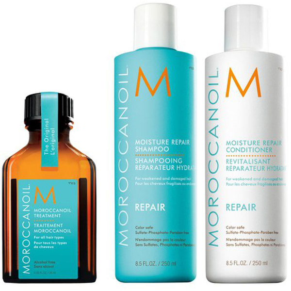 Moroccanoil Moisture Repair Shampoo, Conditioner and Treatment Trio