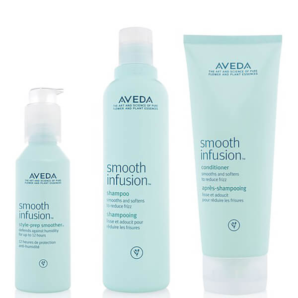 Trio soins adoucissants Aveda Smooth Infusion - Shampoing, après-shampoing et soin coiffant Style Prep Smoother