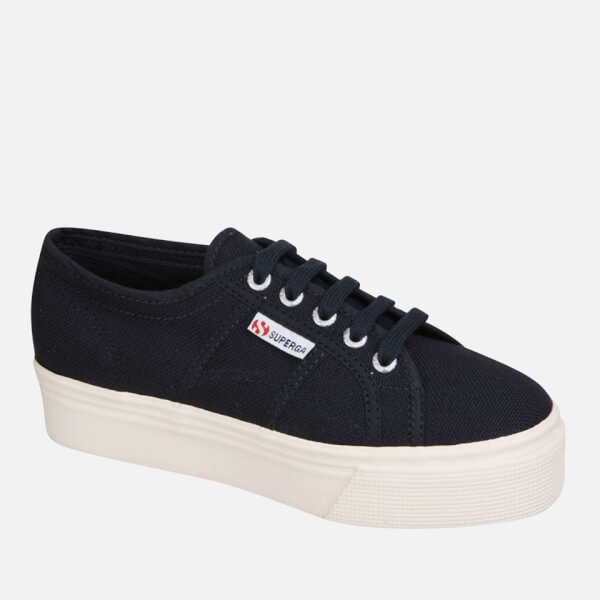 Superga Damens's 2790 Linea Up Down Flatform Trainers Clothing Navy Clothing Trainers ... a61a22