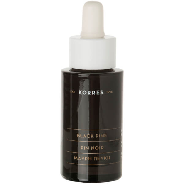Black Pine Anti-Wrinkle and Firming Face Serum Bottle and Dropper de KORRES (30ml)