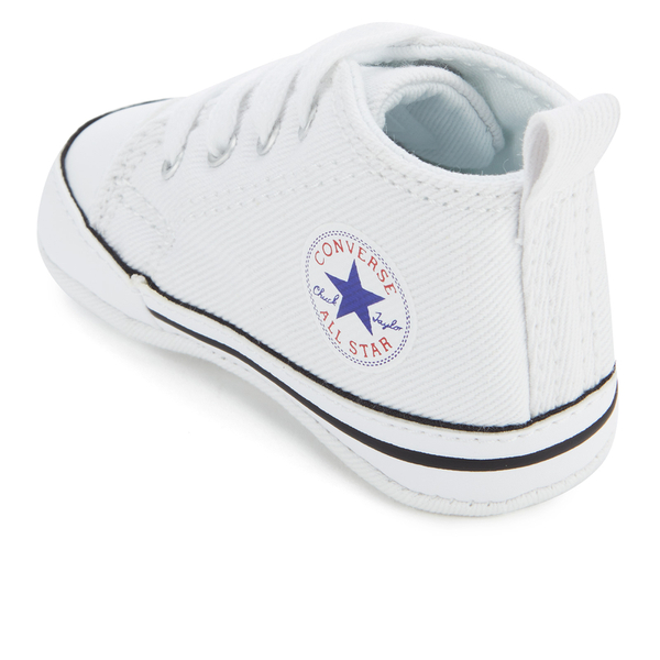 fac57595da58 Converse Babies Chuck Taylor First Star Hi-Top Trainers - White  Image 4