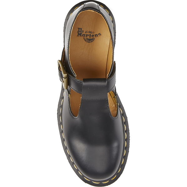 Dr. Martens Women s Core Polley Smooth Leather T-Bar Flat Shoes - Black  ba2f372cc