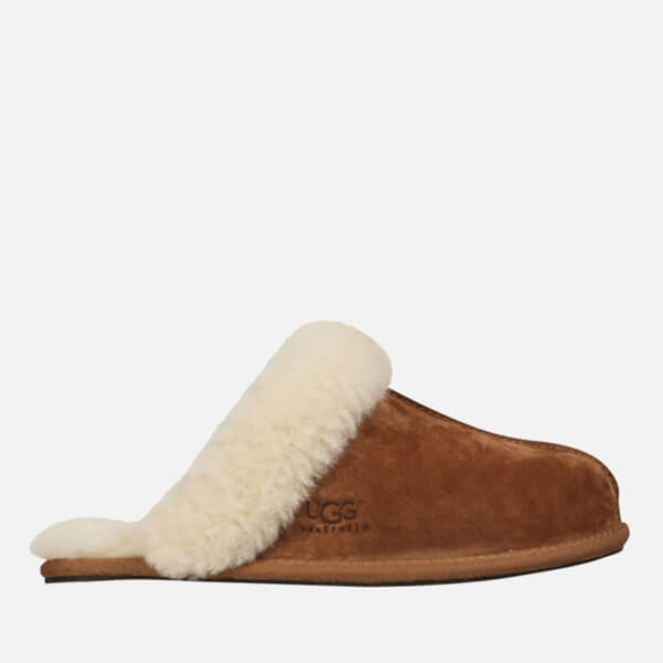 UGG Women's Scuffette II Sheepskin Slippers - Chestnut