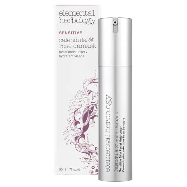 Elemental Herbology Sensitive Calendula & Rose Damask Facial Moisturiser (50ml)