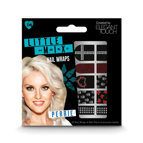 Elegant Touch Little Mix faux ongles nail art - Perrie Nail Wraps
