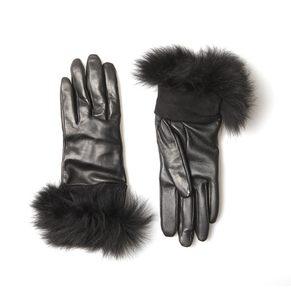 UGG Women's Classic Leather Smart Gloves - Black