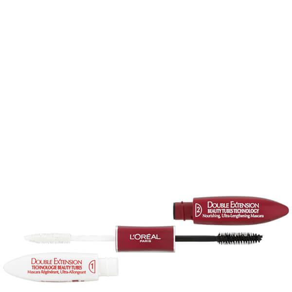 Mascara régénérant ultra-allongeant LOréal Paris Double Extension - Noir (2 x 7ml)
