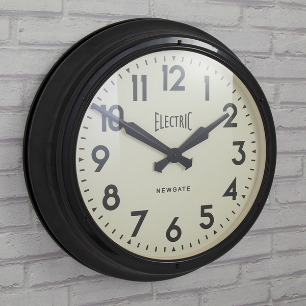Newgate Giant Electric Wall Clock Black Homeware