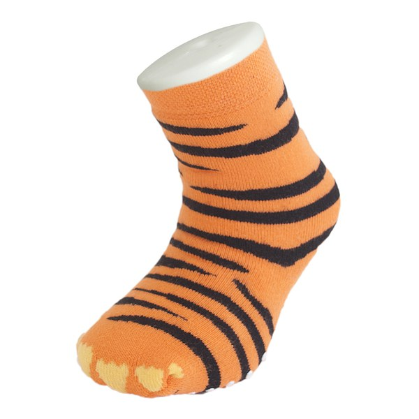 Silly Socks Kidsu0026#39; Slipper Socks - Thick Tiger Feet UK 1-4 | IWOOT