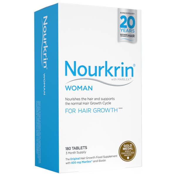 Compléments alimentaires soins de cheveux Nourkrin Woman - 3 mois (180 cachets)