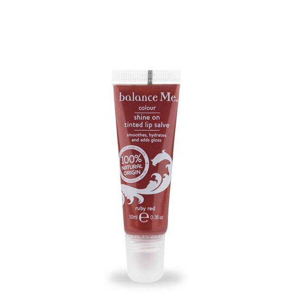Balance Me Shine On Tinted Lip Salve Ruby Red