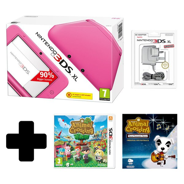 Nintendo 3ds xl pink console with animal crossing new - Animal crossing new leaf consoles ...