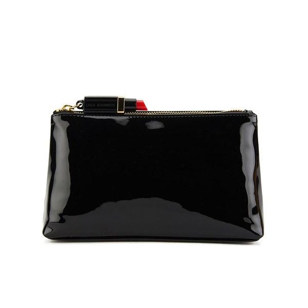 Lulu Guinness Women's T-Seam Medium Zip Pouch Cosmetic Bag - Black