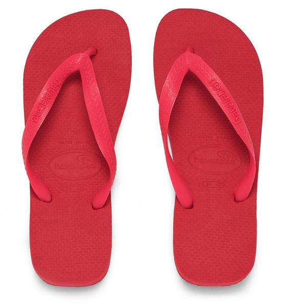 Havaianas Unisex Top Flip Flops Ruby Red Free Uk