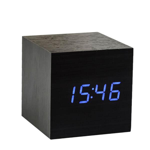 Gingko Cube Click Clock - Black