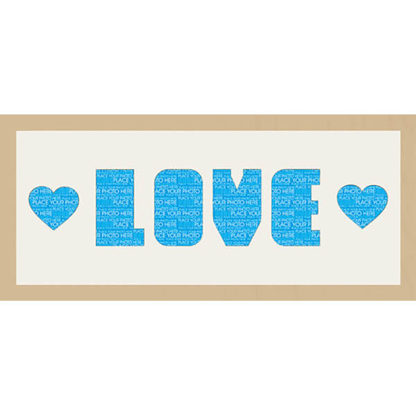 GB Cream Mount Love & Hearts Photo Font - Framed Mount - 12