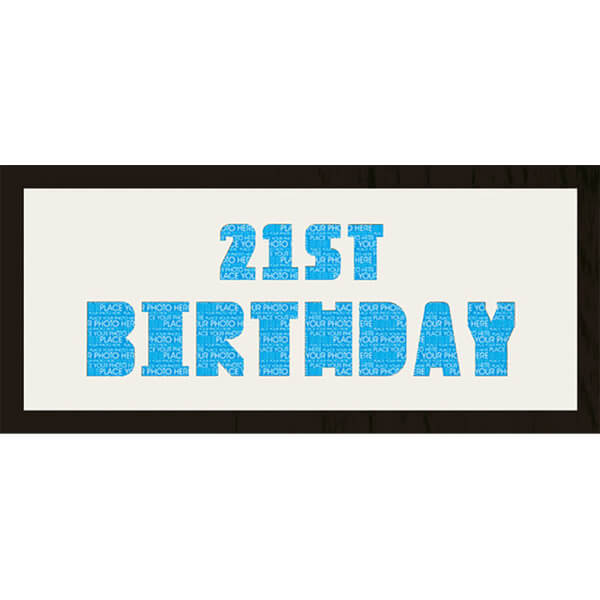 GB Cream Mount 21st Birthday Photo Font - Framed Mount - 12