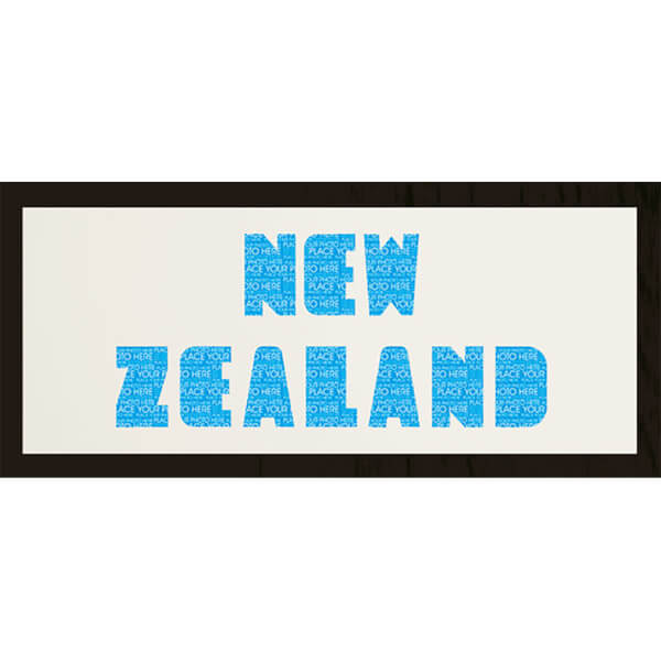 GB Cream Mount New Zealand Photo Font - Framed Mount - 12