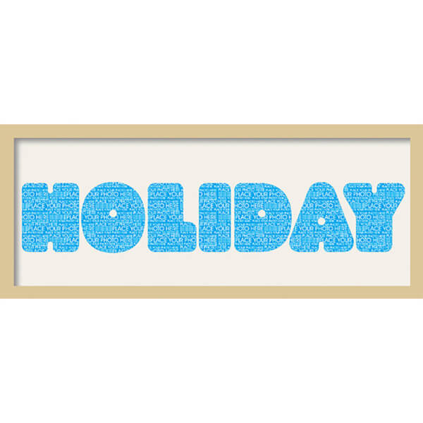 GB Cream Mount Holiday Fatty Font - Framed Mount - 12