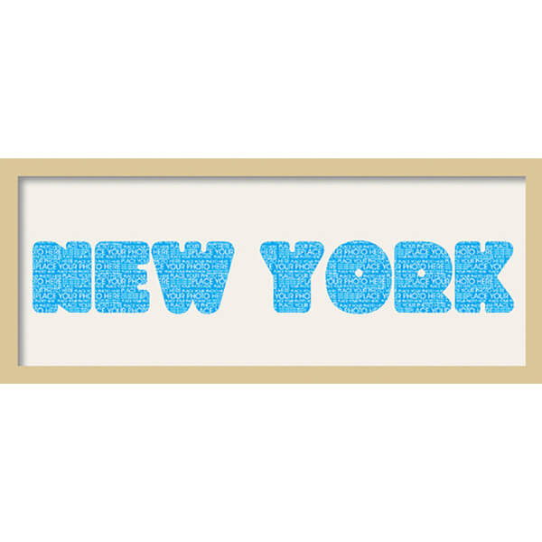 GB Cream Mount New York Fatty Font - Framed Mount - 12