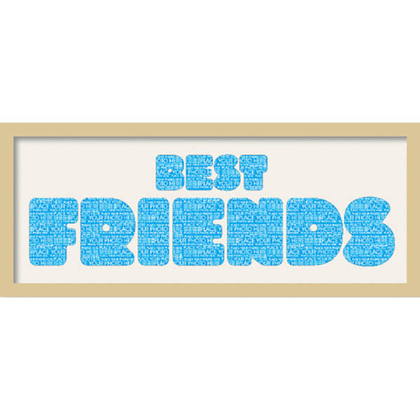 GB Cream Mount Best Friends Fatty Font - Framed Mount - 12