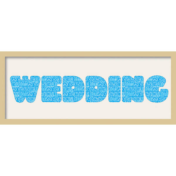 GB Cream Mount Wedding Fatty Font - Framed Mount - 12