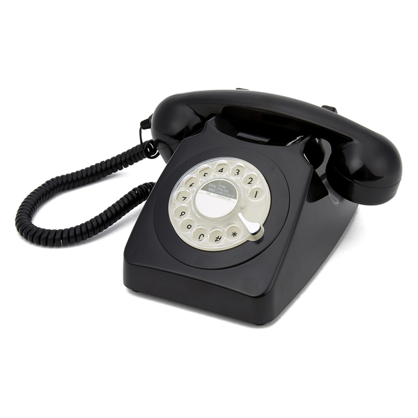 GPO Retro 746 Rotary Dial Telephone - Black