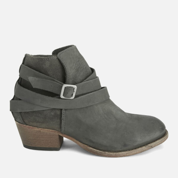 Hudson London Women's Horrigan Tie Around Leather Ankle Boots - Smoke