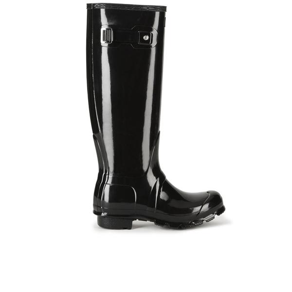 Hunter Women's Original Tall Gloss Wellies - Black