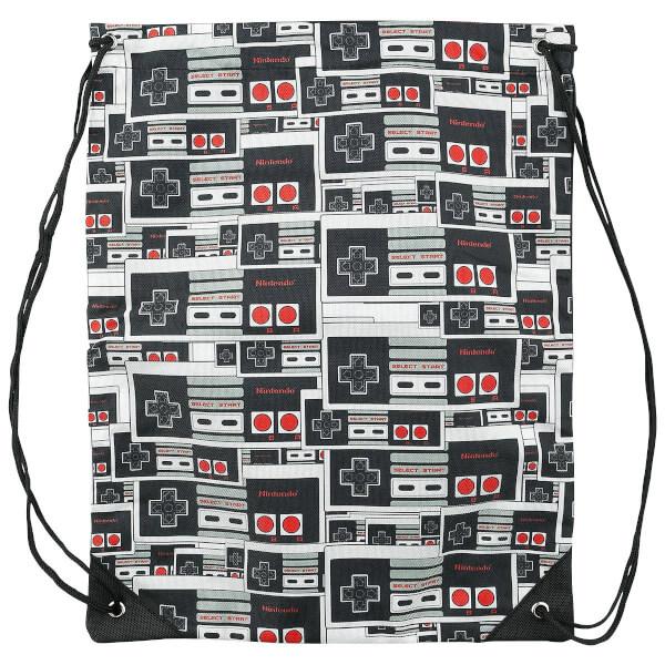 Nintendo Black Controller Logo Gym Bag