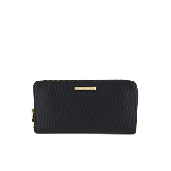 Zip-around wallet in grained leather HUGO BOSS bwA7TZRC