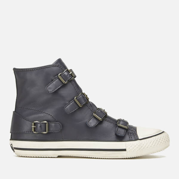 Ash Women's Virgin Leather Hi-Top Trainers - Graphite
