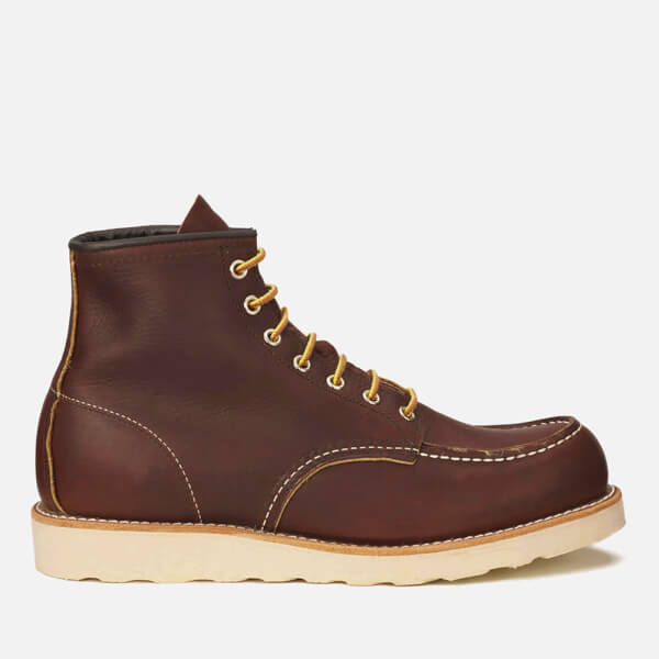 Red Wing Men's 6 Inch Moc Toe Leather Lace Up Boots - Briar Oil Slick