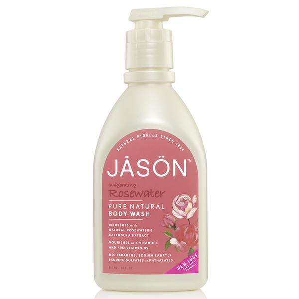 JASON Invigorating Rosewater Satin Body Wash Pump (30oz)