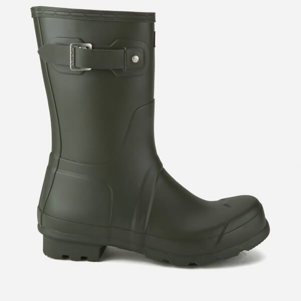 Hunter Men's Original Short Wellies - Dark Olive