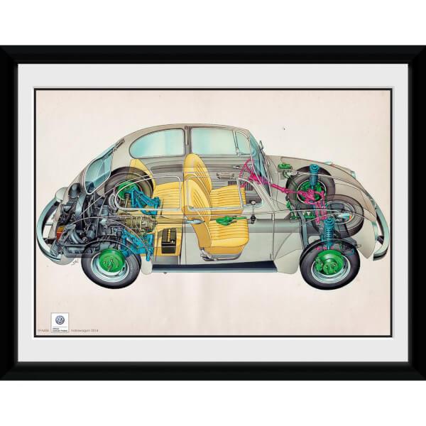 VW Camper Cross - 8x6 Framed Photographic