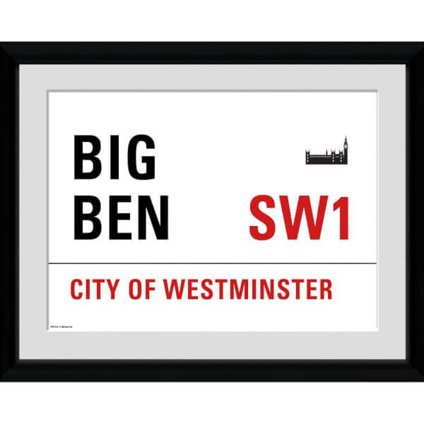 London Big Ben - 30x75 Collector Prints