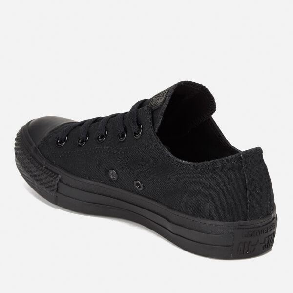 cb5bf458241b Converse Chuck Taylor All Star Ox Canvas Trainers - Black Monochrome  Image  5