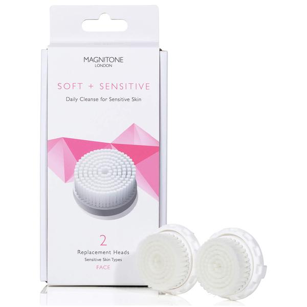 Magnitone London Soft and Sensitive Set de 2 Têtes de Remplacement avec les poils SkinKind™