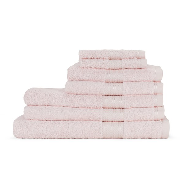 Restmor 100% Egyptian Cotton 7 Piece Supreme Towel Bale Set ( 500gsm) - Pink