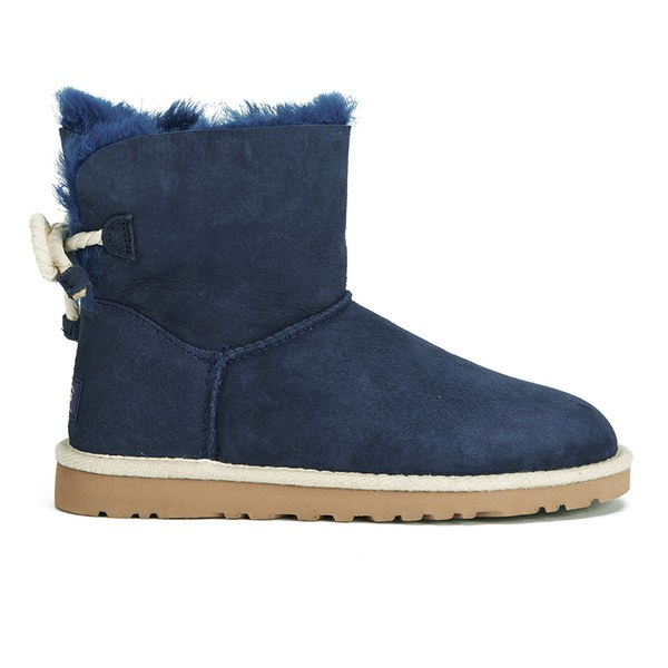 UGG Women's Selene Mini Sheepskin Boots - Navy