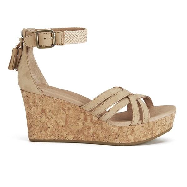 UGG Women's Lillie Suede Wedged Sandals - Wet Sand