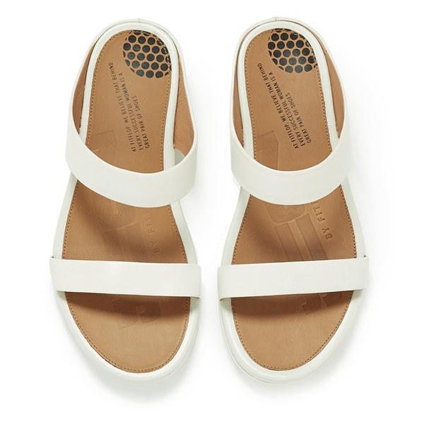 d3b702e27907d3 FitFlop Women s Banda Leather Slide Sandals - Urban White Womens ...